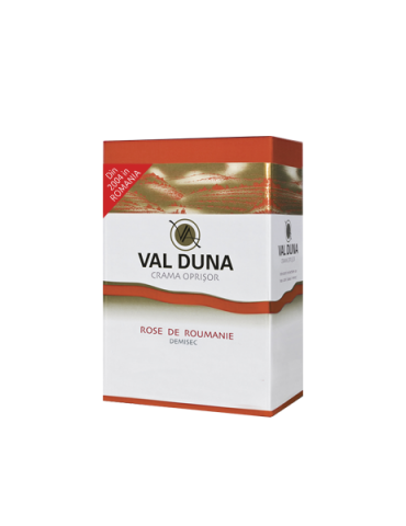 VAL DUNA, CRAMA OPRISOR, BAG-in-BOX Rose de Roumanie 10L